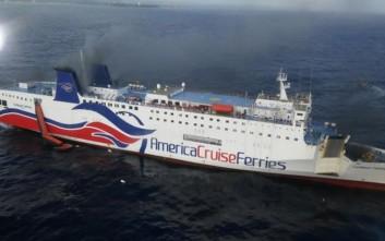 Ολοκληρώθηκε η εκκένωση του πλοίου στο Πουέρτο Ρίκο που πήρε φωτιά εν πλω