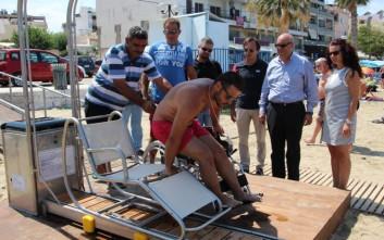 Σύστημα πρόσβασης ατόμων με κινητικά προβλήματα σε παραλία στα Χανιά
