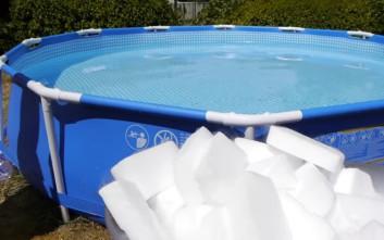 Τι θα γίνει αν ρίξετε 450 κιλά ξηρό πάγο σε μια πισίνα