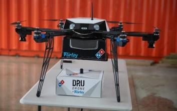 Διανομή πίτσας με drone