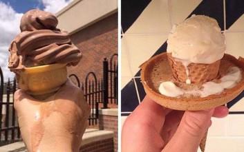 Βρήκαν το κόλπο για να μην πέφτει το παγωτό χωνάκι στα χέρια και πήραν 50.000 δολάρια