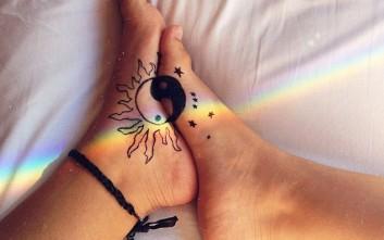 Έξυπνα και ιδιαίτερα τατουάζ για τα πόδια