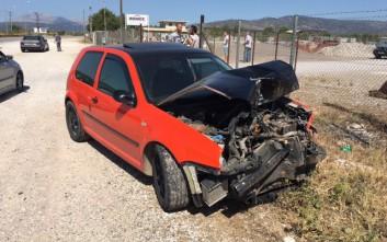 Σφοδρή σύγκρουση οχημάτων στο Αγρίνιο