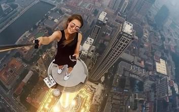 Η Ρωσίδα που βγάζει τις πιο ριψοκίνδυνες selfies και φωτογραφίες