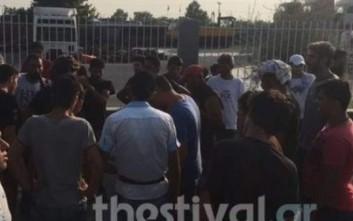 Διαμαρτυρία προσφύγων που διαμένουν στα Διαβατά