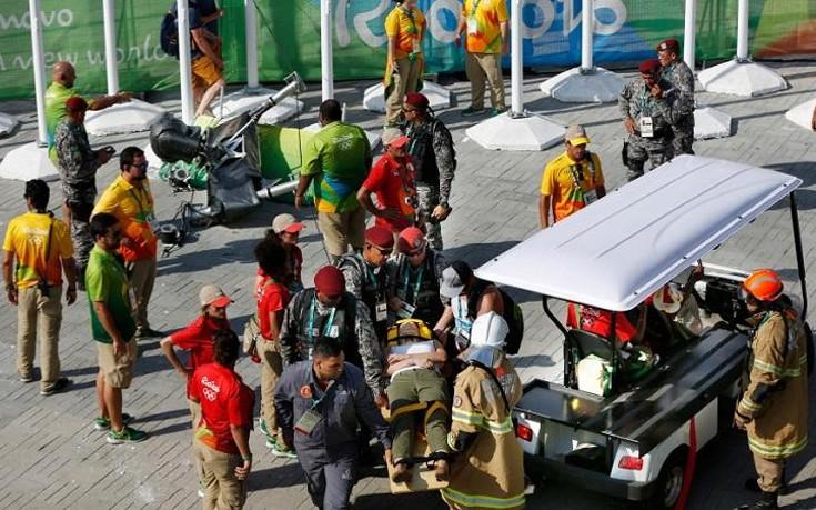 Παραλίγο τραγωδία στο Ρίο από πτώση εναέριας κάμερας ανάμεσα σε θεατές