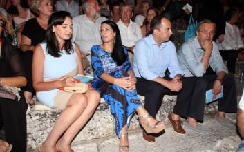 Σαμαράς και Πλακιωτάκης στην Επίδαυρο για τους «Όρνιθες» του Αριστοφάνη