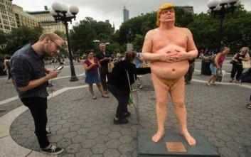 Αποτέλεσμα εικόνας για Ένα γυμνό άγαλμα του Ντόναλντ Τραμπ για σένα!