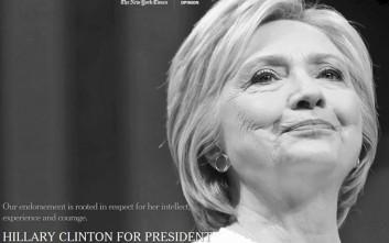 Η New York Times στηρίζει επίσημα την Χίλαρι