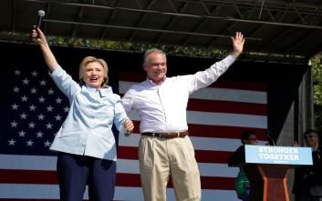 Υποψήφιος αντιπρόεδρος των Δημοκρατικών διαφοροποιείται από την Χίλαρι Κλίντον