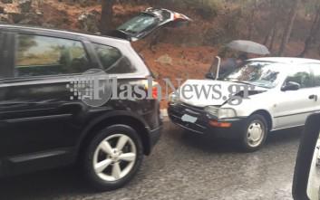 Τροχαία ατυχήματα στην Κρήτη λόγω της βροχής