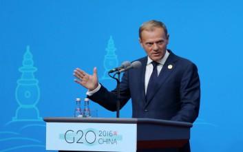 Ο Τουσκ καλεί την Ευρώπη να ενωθεί κατά της «πρόκλησης» Τραμπ