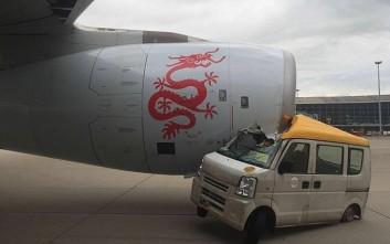 Βανάκι «καρφώθηκε» σε αεροπλάνο στο αεροδρόμιο του Χονγκ Κονγκ