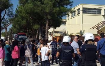 Ένταση στο κέντρο προσφύγων στα Διαβατά με μέλη του ΕΛΚ