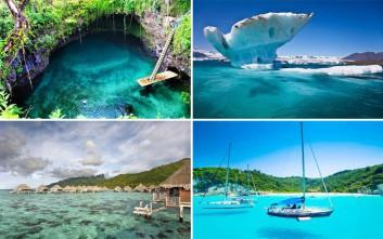 Απολαυστικές εικόνες από τα πιο καθαρά νερά του κόσμου