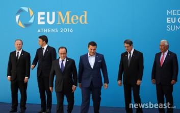Χαμογελαστοί και ευδιάθετοι οι ηγέτες του ευρωπαϊκού Νότου