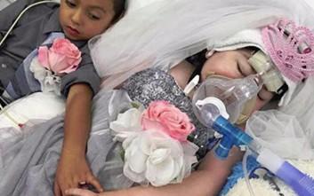Πεντάχρονη «παντρεύτηκε» τον καλύτερό της φίλο λίγες ώρες πριν το θάνατό της