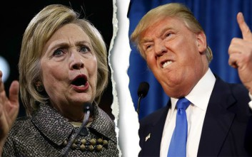 Τα ένοχα μυστικά της Χίλαρι και του Τραμπ καθ' οδόν για τις κάλπες