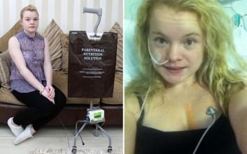 Η 22χρονη που δεν μπορεί να φάει κανονικό φαγητό από το 2010