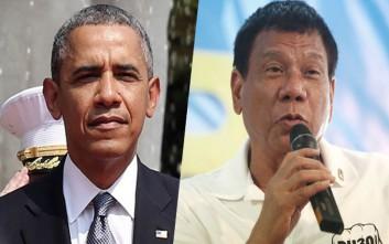 Στον… αγύριστο έστειλε τον Ομπάμα ο πρόεδρος των Φιλιππίνων