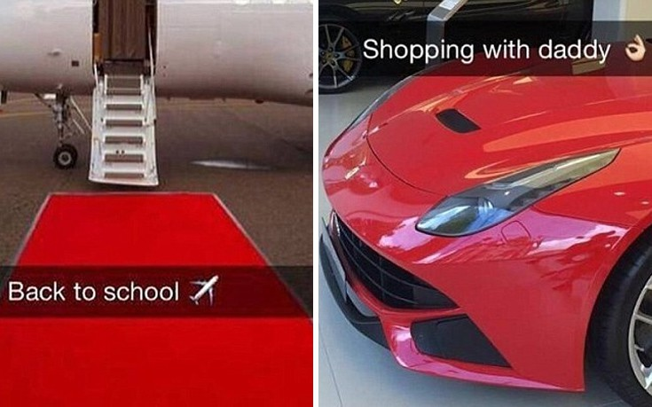 Αποτέλεσμα εικόνας για instagram επιδειξη πλούτου