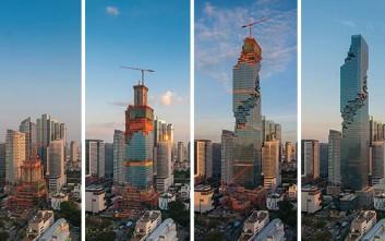 Ο παράξενος ουρανοξύστης της Μπανγκόκ που μοιάζει ημιτελής