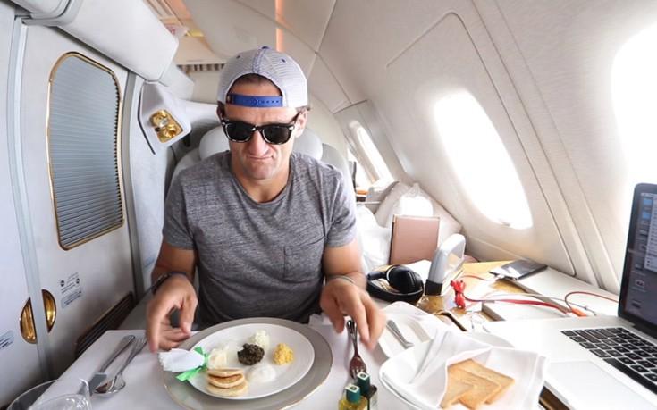 Αυτή είναι η εμπειρία σε μια αεροπορική θέση αξίας 19.000 ευρώ!