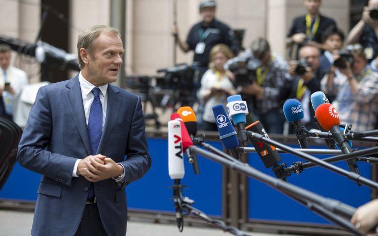Τουσκ: Η Σύνοδος του Οκτωβρίου θα είναι η ώρα της αλήθειας για το Brexit