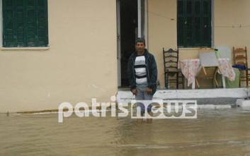 «Βενετία» τα Σαβάλια στην Ηλεία από την βροχόπτωση