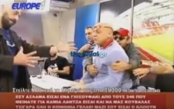 Οπαδός εισέβαλε on air στην εκπομπή του Ραπτόπουλου