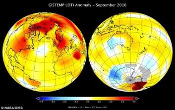 Ο Σεπτέμβριος ήταν ο πιο ζεστός μήνας των τελευταίων 136 ετών