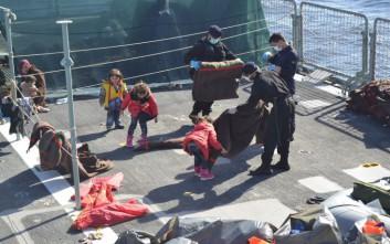 Σκάφος της Frontex διέσωσε 69 πρόσφυγες στη Χίο