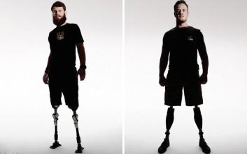 Άνθρωποι που τραυματίστηκαν στο καθήκον φωτογραφίζονται για καλό σκοπό
