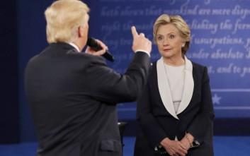 Περίπου 64.000.000 τηλεθεατές παρακολούθησαν το τελευταίο ντιμπέιτ Κλίντον- Τραμπ