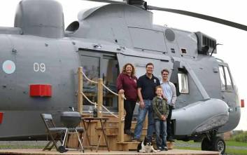 Ελικόπτερο του Βασιλικού Ναυτικού μεταμορφώθηκε σε εξοχικό