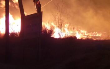 Ολονύκτια μάχη με τις φλόγες στη Σύρο