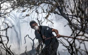 Τραυματίστηκε εθελοντής πυροσβέστης στη φωτιά στο άλσος Συγγρού
