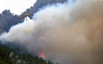 Μεγάλη φωτιά στην περιοχή Αγία Ειρήνη στην Κεφαλονιά