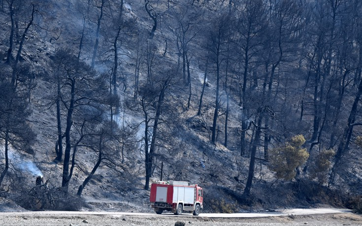 Σε ύφεση η μεγάλη πυρκαγιά στις Μαριές Ζακύνθου