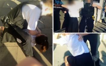 Αστυνομικός σέρνει ένα 13χρονο κορίτσι «σαν ένα κομμάτι κρέας»