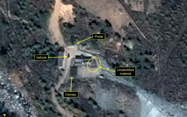 Ανησυχία προκαλούν δορυφορικές εικόνες από τη Βόρεια Κορέα