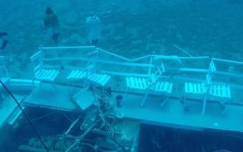 Το σκάφος «Αντωνία» στον βυθό της Αίγινας μετά την τραγωδία