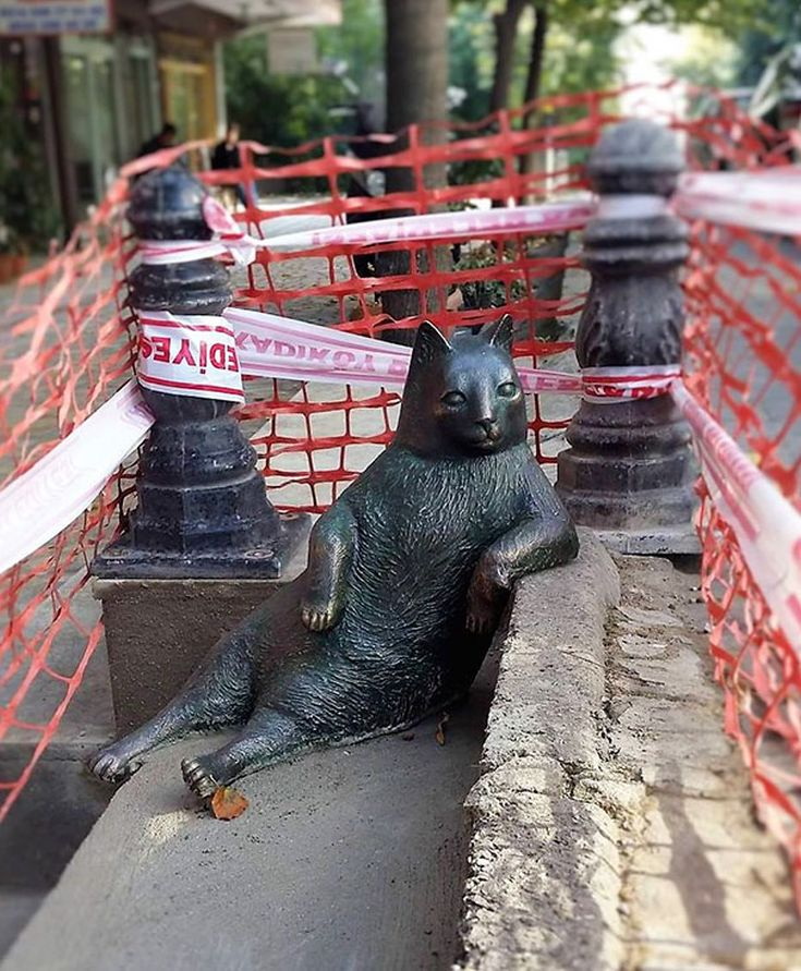 Κωνσταντινούπολη Γάτα άγαλμα