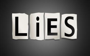 Ψέμα το ψέμα χτίζεται η διαστρέβλωση της αλήθειας
