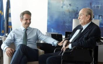 Στα νέα γραφεία της ΝΔ ο Κωνσταντίνος Μητσοτάκης