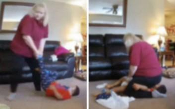 Σάλος με νταντά που κάθεται πάνω σε παιδί με σύνδρομο Down