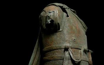 Ένα άγαλμα από τη θάλασσα της Καλύμνου στο Μουσείο Ακρόπολης