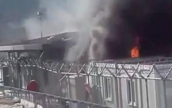 Εικόνες από τη νέα εξέγερση στο hotspot της Μόριας