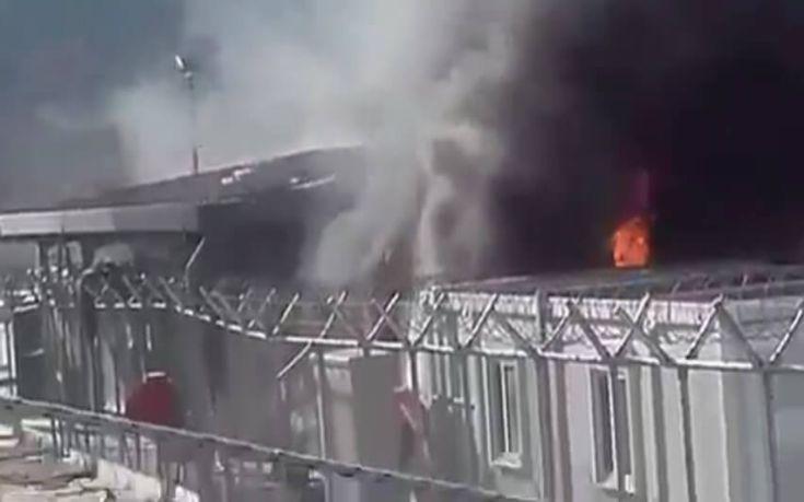 Καταστροφές στο Ευρωπαϊκό Γραφείο υποστήριξης Ασύλου στη Λέσβο