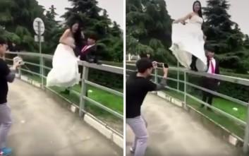 Η φωτογράφιση της νύφης που πήγε οδυνηρά λάθος